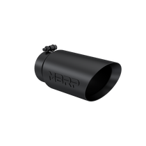 MBRP T5053BLK Exhaust Tip 5 Inch O.D. Dual Wall Angled 4 Inch Inlet 12 Inch Length-Black Finish