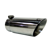 MBRP T5110 EXHAUST TIP 4 INCH O.D. DUAL WALL ANGLED 3 1/2 INCH INLET 10 INCH LENGTH T304 STAINLESS STEEL