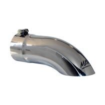 MBRP T5081 EXHAUST TAIL PIPE TIP 4 INCH O.D. TURN DOWN 4 INCH INLET 12 INCH LENGTH T304 STAINLESS STEEL