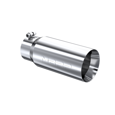 MBRP T5049 EXHAUST TAIL PIPE TIP 5 INCH O.D. DUAL WALL STRAIGHT 4 INCH INLET 12 INCH LENGTH T304 STAINLESS STEEL