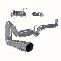 MBRP S6004409 4 INCH SINGLE SIDE EXHAUST PIPE T409 STAINLESS STEEL FOR 01-07 SILVERADO/SIERRA 2500/3500 DURAMAX EXTENDED/CREW CAB