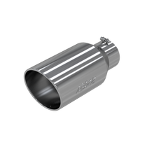 MBRP T5129 EXHAUST TIP 8 INCH O.D. ROLLED END 5 INCH INLET 18 INCH LENGTH T304 STAINLESS STEEL