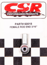 PROFORMANCE PROS CSI-60018 3/16IN Female Rod End