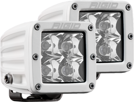 RIGID INDUSTRIES 602213 Hybrid Spot Surface Mount White Housing Pair D-Series Pro