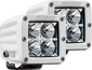 RIGID INDUSTRIES 602113 Hybrid Flood Surface Mount White Housing Pair D-Series Pro