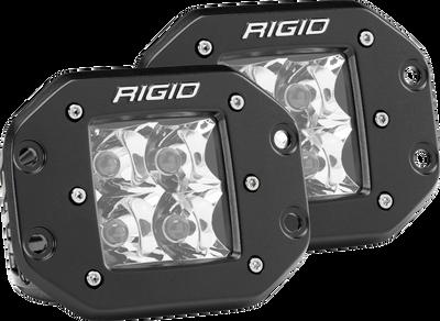 RIGID INDUSTRIES 212213 Spot Flush Mount Black Pair D-Series Pro