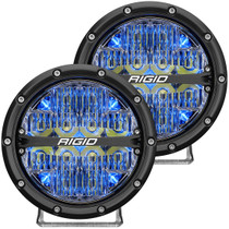 RIGID INDUSTRIES 36207 360-Series 6 Inch Led Off-Road Drive Beam Blue Backlight Pair
