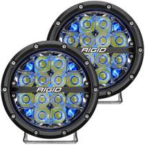 RIGID INDUSTRIES 36202 360-Series 6 Inch Led Off-Road Spot Beam Blue Backlight Pair