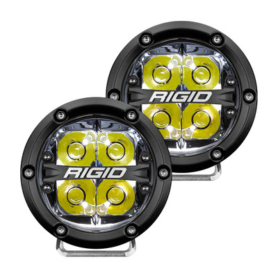 RIGID INDUSTRIES 36113 360-Series 4 Inch Led Off-Road Spot Beam White Backlight Pair