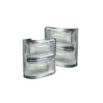 RECON 264140CL AMBER LED CLEAR LENS MIRROR LIGHTS 2008-2016 FORD SUPER DUTY