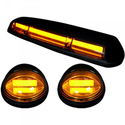 RECON 264155AMHP AMBER LENS AMBER OLED BAR-STYLE CAB LIGHTS 2002-2007 GM SILVERADO/SIERRA (WITH FACTORY CAB LIGHTS)