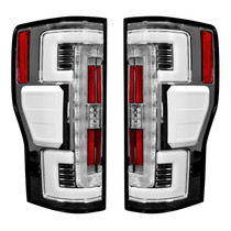RECON 264299LEDCL DUAL U-BAR CLEAR LENS OLED TAIL LIGHTS 2017-2019 FORD SUPER DUTY (WITH FACTORY LED TAIL LIGHTS)