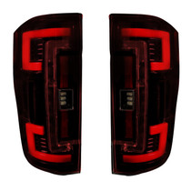 RECON 264299RD DUAL U-BAR RED LENS OLED TAIL LIGHTS 2017-2019 FORD SUPER DUTY (WITH FACTORY HALOGEN TAIL LIGHTS)