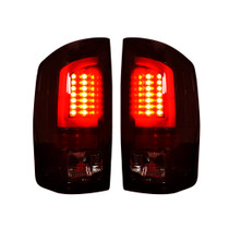 RECON 264379RBK DARK RED SMOKED OLED TAIL LIGHTS 2007-2008 DODGE RAM 1500   2007-2009 DODGE RAM 2500/3500