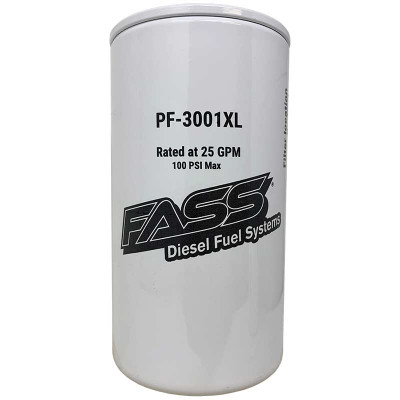FASS PF-3001XL EXTENDED LENGTH FUEL PARTICULATE FILTER FOR FASS TITANIUM / SIGNATURE SERIES PUMP (REQUIRES FASS XWS-3002 XL - SEE NOTES)