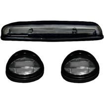 RECON 264155CLHP CLEAR LENS AMBER OLED BAR-STYLE CAB LIGHTS 2002-2007 GM SILVERADO/SIERRA (WITH FACTORY CAB LIGHTS)
