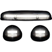 RECON 264155WHCLHP CLEAR LENS WHITE OLED BAR-STYLE CAB LIGHTS 2002-2007 GM SILVERADO/SIERRA (WITH FACTORY CAB LIGHTS)
