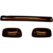 RECON 264156AMHP AMBER LENS AMBER OLED BAR-STYLE CAB LIGHTS 2007.5-2014 GM SILVERADO/SIERRA (WITH FACTORY CAB LIGHTS)