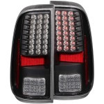 ANZO 311127 BLACK LED TAILLIGHTS 2008-2016 FORD SUPER DUTY