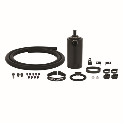 MISHIMOTO MMBCC-UNI-BK BAFFLED OIL CATCH CAN UNIVERSAL - MANY APPLICATIONS