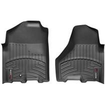 WEATHERTECH 442161 FRONT FLOORLINER, BLACK FOR 2010-2012 RAM 2500/3500 (CREW/MEGA CAB - WITH DRIVER FLOOR HOOK, W/O PTO KIT)