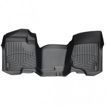 WEATHERTECH 442941 FRONT FLOORLINER, BLACK FOR 2007.5-2014 GM SILVERADO/SIERRA (EXTENDED/CREW CAB - W/O 4X4 FLOOR SHIFTER)(OVER-THE-HUMP)