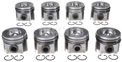 MAHLE PISTON SET STD. SIZE (SET OF 8) (04-06 POWERSTROKE 6.0L)