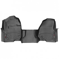 WEATHERTECH 4410321 BLACK FRONT FLOORLINER FORD F-250/F-350/F-450/F-550 2017 + FITS VEHICLES WITH 1ST ROW BENCH SEATS AND NON-FLOW-THROUGH CONSOLE