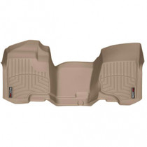 WEATHERTECH 452941 FRONT FLOORLINER, TAN 2007.5-2014 GM SILVERADO/SIERRA (EXTENDED/CREW CAB - W/O 4X4 FLOOR SHIFTER)(OVER-THE-HUMP)