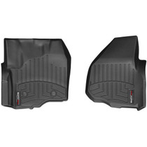 WEATHERTECH 444331 FRONT FLOORLINER, BLACK FOR 2012-2016 FORD SUPER DUTY (EXTENDED/CREW CAB - W/O 4X4 FLOOR SHIFTER WITH RAISED DEAD PEDAL)
