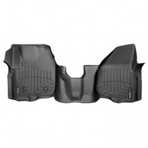 WEATHERTECH 444341 FRONT FLOORLINER, BLACK  2012-2016 FORD SUPER DUTY (EXTENDED/CREW CAB - W/O 4X4 FLOOR SHIFTER WITH RAISED DEAD PEDAL)(OVER-THE-HUMP)