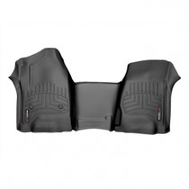 WEATHERTECH 445431 FRONT FLOORLINER, BLACK FOR 2015-2019 GM SILVERADO/SIERRA 2500HD/3500HD (EXTENDED/CREW CAB - W/O 4X4 FLOOR SHIFTER)(OVER-THE-HUMP)