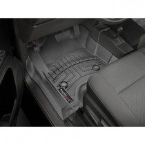 WEATHERTECH 447221 FRONT FLOORLINER, BLACK FOR 2015-2019 GM SILVERADO/SIERRA 2500HD/3500HD (EXTENDED/CREW CAB - WITH 4X4 FLOOR SHIFTER)