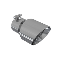"""MBRP T5151 EXHAUST TIP - 4.5"""" O.D. DUAL WALL ANGLED 3"""" INLET 7.7"""" LENGTH"""