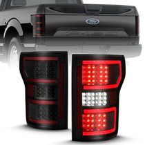 ANZO 311314 LED TAILLIGHT BLACK (RED LIGHT BAR) (W/SEQUENTIAL) FOR 2018-2020 FORD F-150