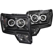 ANZO 111161 PROJECTOR HEADLIGHTS HALO LED BLACK (CCFL) FOR 09-14 FORD F-150