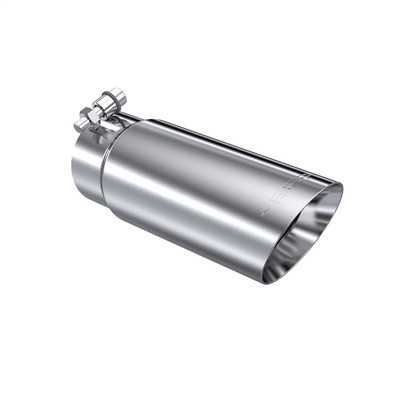 """MBRP T5114 UNVERSAL EXHAUST TIP 3.5"""" OD DUAL WALL ANGLED END 3"""" INLET 10"""" LENGTH,T304"""