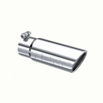 """MBRP T5115 UNIVERSAL EXHAUST TIP, 3.5"""" OD ANGLED ROLLED END 3"""" INLET 10"""" LENGTH, T304"""