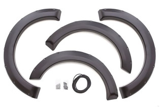 LUND RX311S ELITE BLACK RIVET STYLE 4 PC FENDER FLARE SET FOR 1999-2007 FORD F-250/F-350 (EXCLUDES DUALLY)