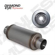 """DIAMOND EYE MANUFACTURING 460020 409 SS 4"""" PERFORATED PACKED EXHAUST MUFFLER"""