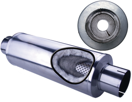 DIAMOND EYE MANUFACTURING 560033 409 SS 5 INCH LOUVER PACKED MUFFLER