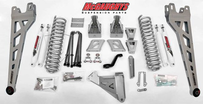 """MCGAUGHY'S SUSPENSION 57282 8"""" LIFT KIT PHASE 2 W/ FRONT AND REAR SHOCKS 2011-2013 FORD F-250 (4WD)"""