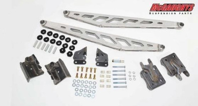 MCGAUGHY'S SUSPENSION 52318 TRACTION BAR KIT (RAW) FOR 2011-2019 GM 2500/3500 (2WD/4WD)