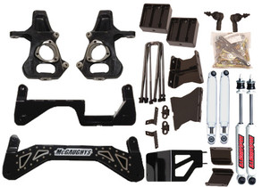 """MCGAUGHY'S SUSPENSION 52356 7"""" PREMIUM BLACK SS LIFT KIT FOR 2011-2019 GM 2500 (4WD, GAS & DIESEL)"""