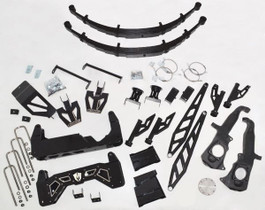 """MCGAUGHY'S SUSPENSION 52370 10"""" PREMIUM BLACK STAINLESS STEEL LIFT KIT FOR 2011-2019 GM TRUCK 2500/3500 (2WD/4WD, GAS & DIESEL)"""