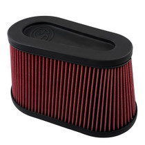 S&B FILTERS KF-1076 REPLACEMENT FILTER FOR SB COLD AIR INTAKE KIT (CLEANABLE 8-PLY COTTON) 75-5136