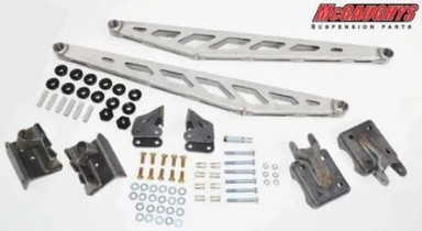 """MCGAUGHY'S SUSPENSION 57296 TRACTION BAR KIT (RAW) FOR 2017-2020 FORD F350 4WD (FITS TRUCKS W/4"""" AXLE TUBE ONLY)"""