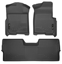 HUSKY LINERS 98331 FRONT & 2ND SEAT FLOOR LINERS (FOOTWELL COVERAGE) (2009-2014 Ford F-150)