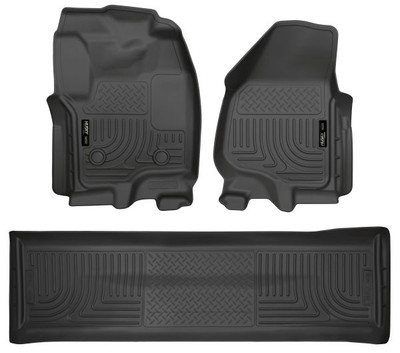 HUSKY LINERS 99711 FRONT & 2ND SEAT FLOOR LINERS (FOOTWELL COVERAGE) (2012-2016 Ford F-250/350)