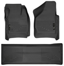 HUSKY LINERS 98381 FRONT & 2ND SEAT FLOOR LINERS (FOOTWELL COVERAGE) (2008-2010 Ford F-250/350)